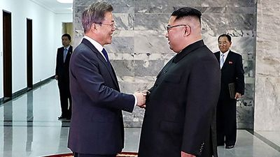 Korean leaders hold surprise second summit to discuss Trump