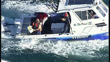 Father-son fishing duo in dramatic sea rescue