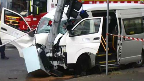 Mini-bus driver dies after suffering medical episode and crashing in Ballarat
