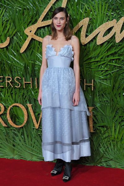 Alexa Chung at the British Fashion Awards, December 2017.