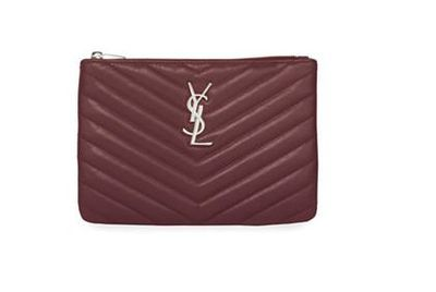 "<a href=""http://www.neimanmarcus.com/en-au/Saint-Laurent-Monogram-Small-Chevron-Zip-Top-Pouch-Bag/prod200450490/p.prod?icid=&searchType=MAIN&rte=%2Fsearch.jsp%3Ffrom%3DbrSearch%26request_type%3Dsearch%26search_type%3Dkeyword%26q%3Dburgundy+bag&eItemId=prod200450490&cmCat=search&tc=17&currentItemCount=3&q=burgundy+bag&searchURL=/en-au/search.jsp%3Ffrom%3DbrSearch%26start%3D0%26rows%3D30%26q%3Dburgundy+bag%26l%3Dburgundy+bag%26request_type%3Dsearch%26search_type%3Dkeyword"" target=""_blank"">Saint Laurent Monogram Small Chevron Zip-Top Pouch Bag, $659. </a>"