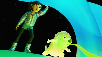 This animated flick stars an all-asian cast.