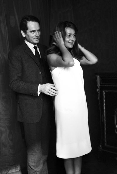 Jeanne Moreau with her partner of five years, designer Pierre Cardin in 1965.