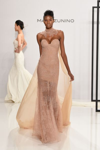 <p>Nearly nude</p> <p>Mark Zunino for Kleinfeld, Spring 2017, New York Bridal Fashion Week </p>