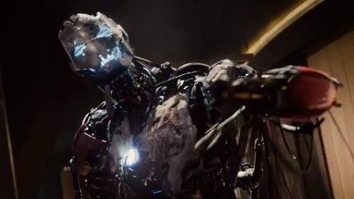 An early look at a prototypical Ultron (James Spader). (Marvel Entertainment)