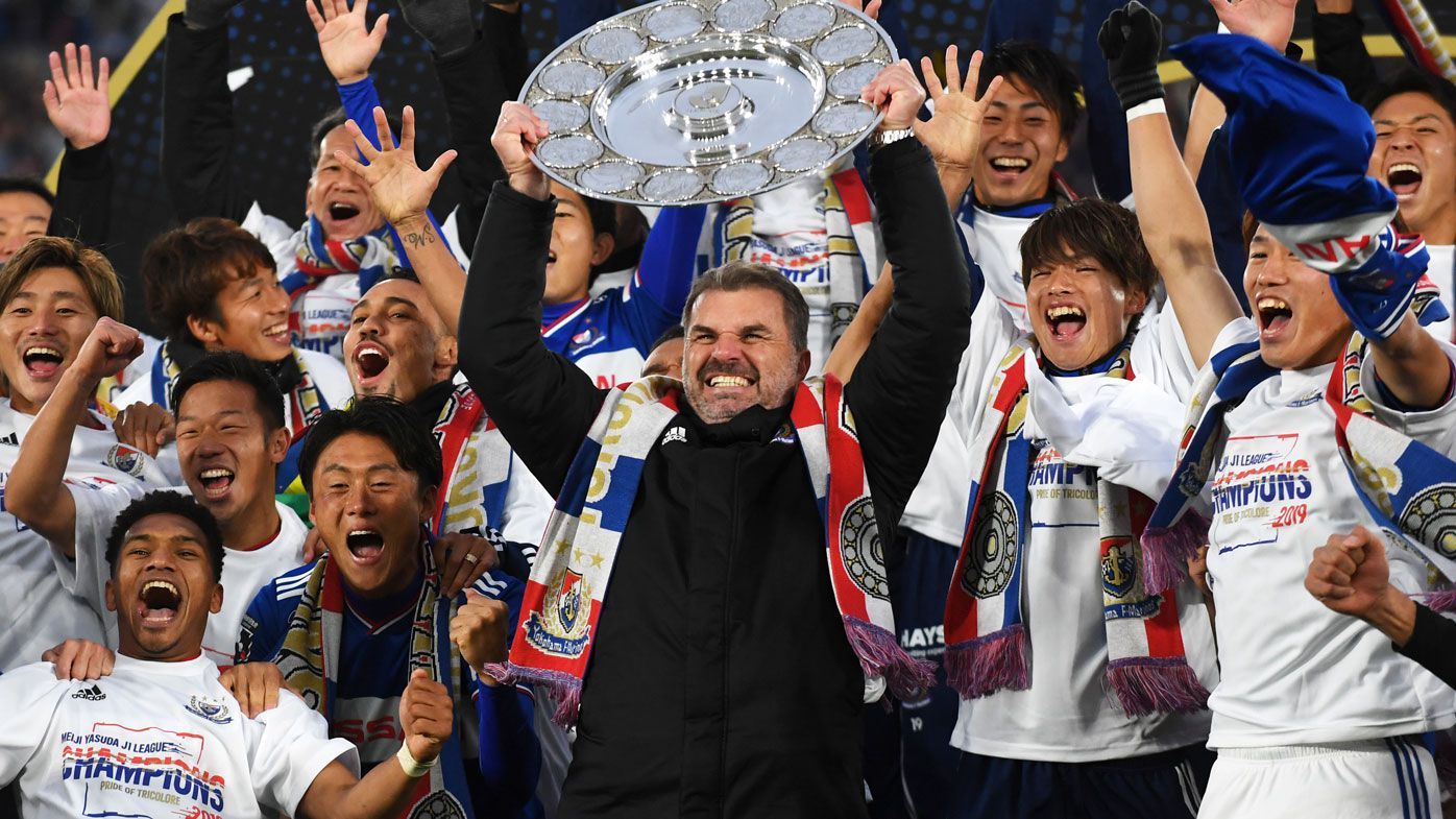 Former Socceroos coach Ange Postecoglou makes history with J-League title