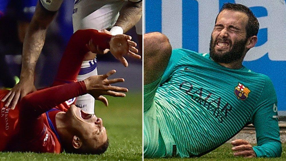 Sickening leg injuries mar La Liga