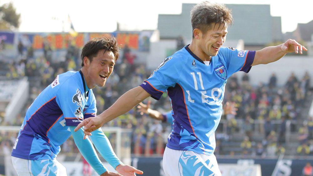 Japanese striker Kazuyoshi Miura breaks 52-year-old record for oldest goalscorer