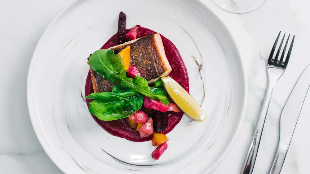 Song Kitchen's crispy skin Tasmanian salmon