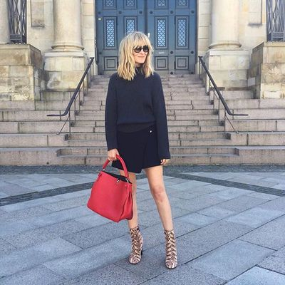 <p>Balance out chunky knits with a flash of skin.</p>