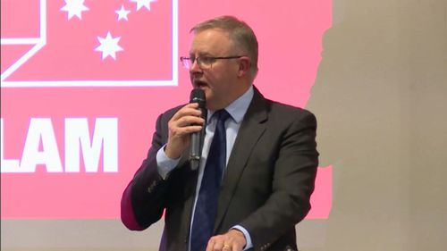 Anthony Albanese delivered the Whitlam Oration last night, setting out his agenda for reforming the Labor Party. Picture: 9NEWS
