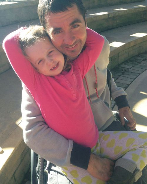 Darren will be in a wheelchair for life but refuses to ponder his misfortune. Picture: Supplied