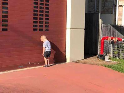 Little boy NSW fire station