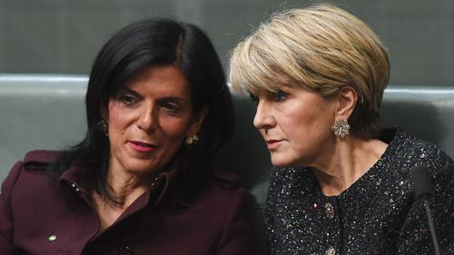 "Julie Bishop said she was ""saddened"" by Ms Banks' decision."