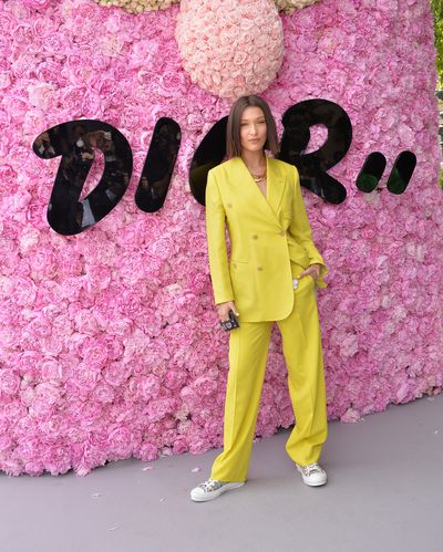 Bella Hadid at the Dior Homme Menswear Spring/Summer 2019 show as part of Paris Fashion Week, June, 2018