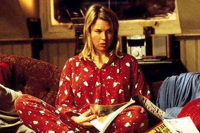 Post-split, we're guessing Renee did lots of this. <br/><br/>The star fast-tracked her way to becoming a single girl's icon, by mulling around in PJs and wearing granny panties in <i>Bridget Jones Diary</i>.<br/>