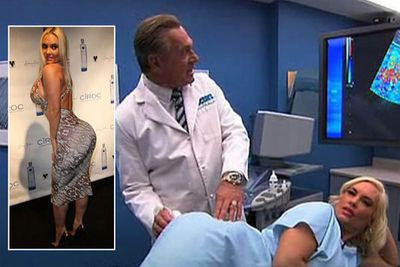 Coco (aka Ice T's wife) underwent an ultrasound on live TV to prove that she hasn't had butt implants.