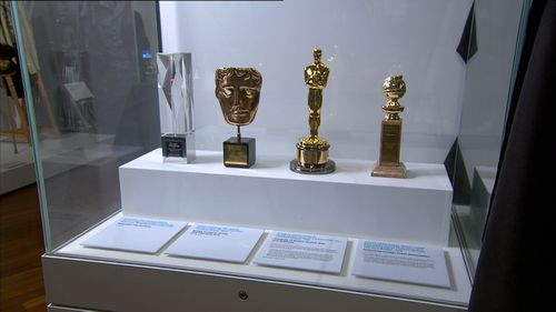 A number of Ledger's accolades are also on display. Image: 9News