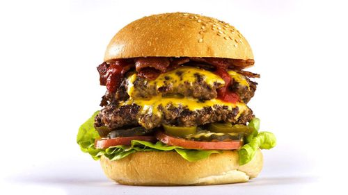 Burger Urge's 'Double Decker Death Wish' is claiming to be the hottest burger in Australia. (Burger Urge)