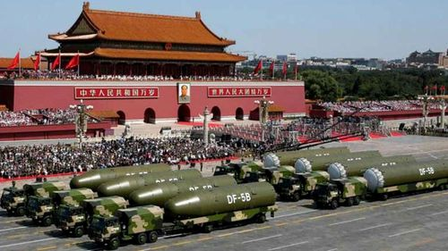 Chinese nuclear forces parade through Beijing in 2015.