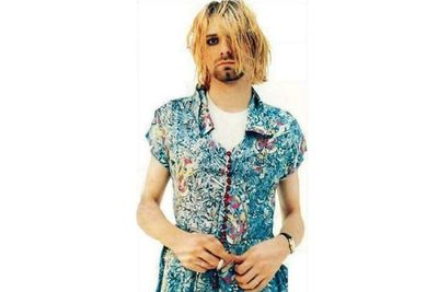 Donning dresses was all in a day's work for the grunge legend.