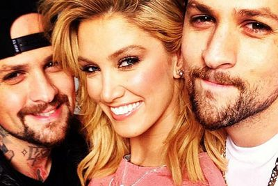 @deltagoodrem: These two @benjaminmadden @joelmadden xx.<br/><br/><i>Voice Kids</i> coaches hanging out!