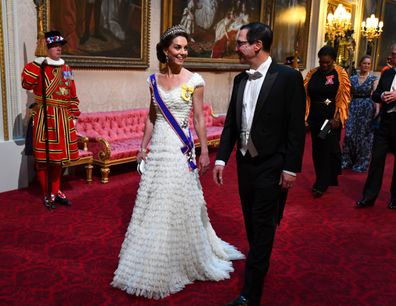 Duchess of Cambridge tiara diplomatic reception