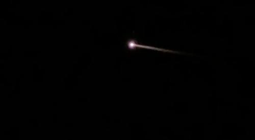 A mysterious orange fireball has streaked across Florida's night sky.