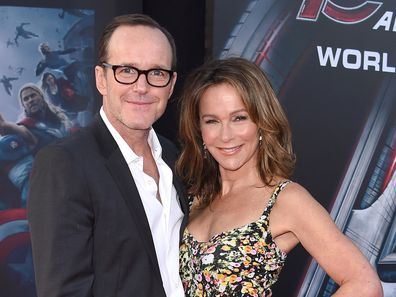 Clark Gregg and Jennifer Grey arrive at the Los Angeles premiere of Marvel's Avengers: Age Of Ultron in 2015.