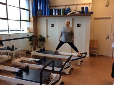 Mary-Lynne at pilates
