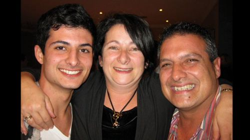 Doujon with his parents Rosemary and Oliver.