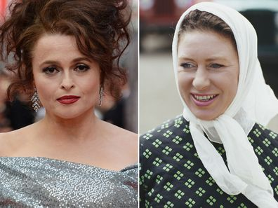Helena Bonham Carter and Princess Margaret.