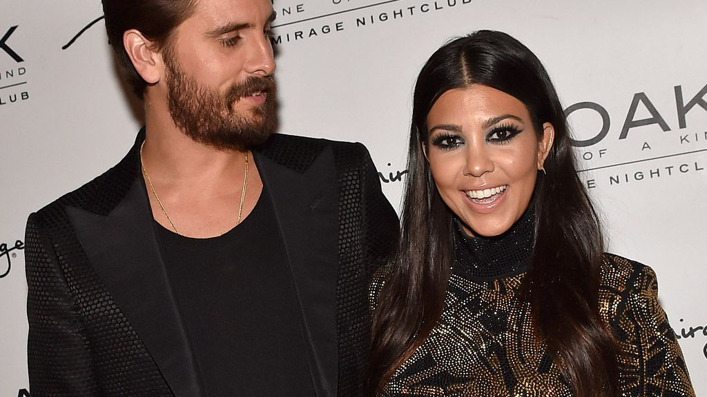 Baby daddy: Kourtney Kardashian and Scott already have three children together - what's one more?