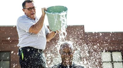 <p><b>5.</b> Ice Bucket Challenge. (AAP)</p><p>The challenge aimed to raise money and promote aware of the disease ALS otherwise known in Australia as motor neurone disease.</p><p> The challenge was undertaken by a slew of celebrities and figureheads including everyone from Britney Spears to Bill Gates. </p><p> The ALS Association said it's raised more than $100million since the challenge began in July. </p>