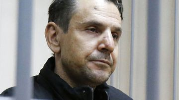 Boris Grits, the alleged murderer of journalist Tatyana Felgenhauer. (AAP)