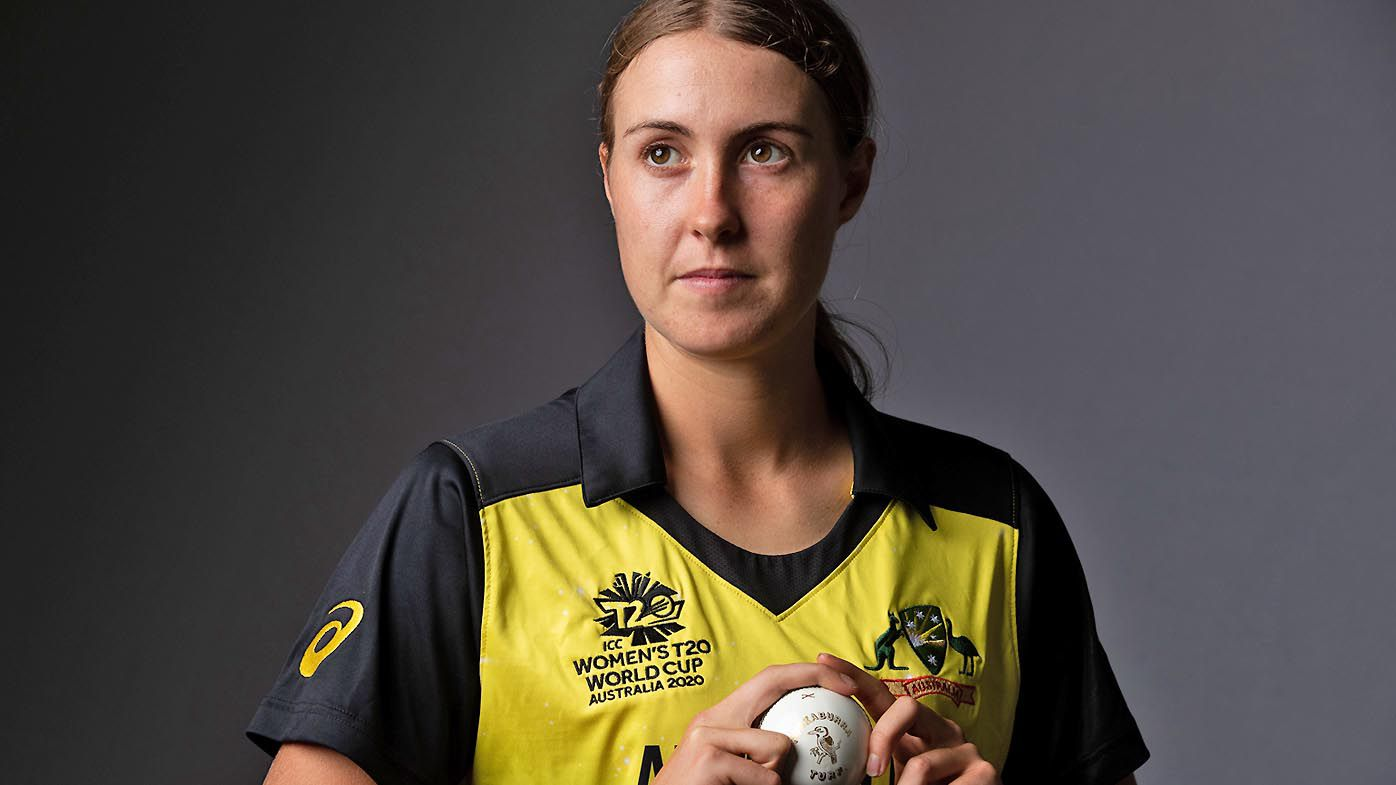 Tayla Vlaeminck poses during the Australia 2020 ICC Women's T20 World Cup