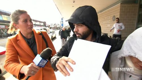 Duglus Aljamany, 25, has strenuously denied the allegations. Picture: 9NEWS