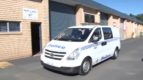 A second man was arrested at an industrial complex in manly Vale just after 2pm today.
