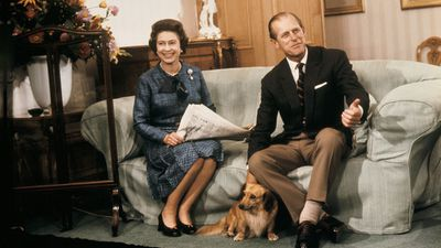 The Queen and Prince Philip in the drawing room at Balmoral Castle, 1977