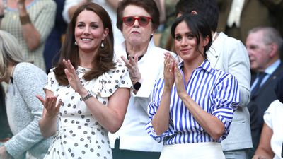 The Duchess of Cambridge and Duchess of Sussex at Wimbledon Ladies Final, 2018