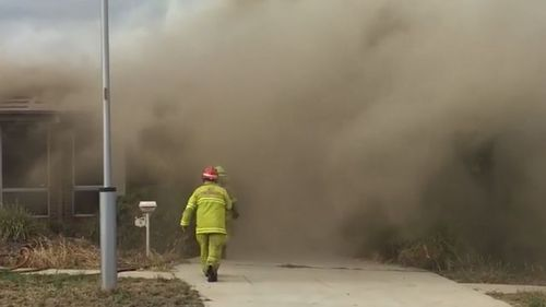 Fire crews were called to the scene last week to find the home fully engulfed in flames and smoke (9NEWS)