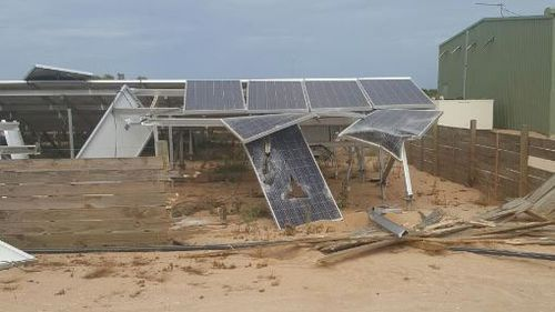The damaged solar panels. (WA Police)