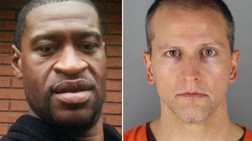The case of former police officer Derek Chauvin, who was charged over the death of George Floyd (left), could hinge on the result of the appeal application.