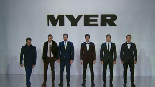The men haven't been left out of the show, with Myer ambassador Kris Smith leading the charge dressed in the latest formal wear. (9NEWS)