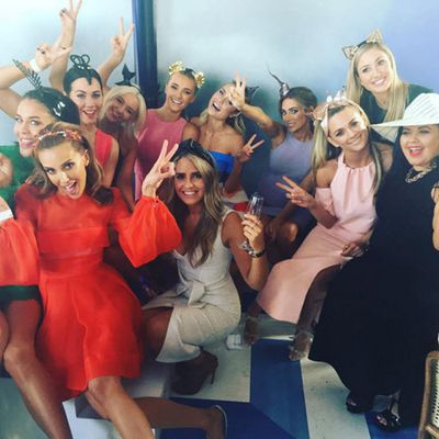 Bec Judd, Megan Gale and friends