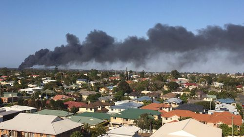 """""""From Chermside. Can see the huge flames"""", one Twitter user wrote. (via @PandM4012)"""