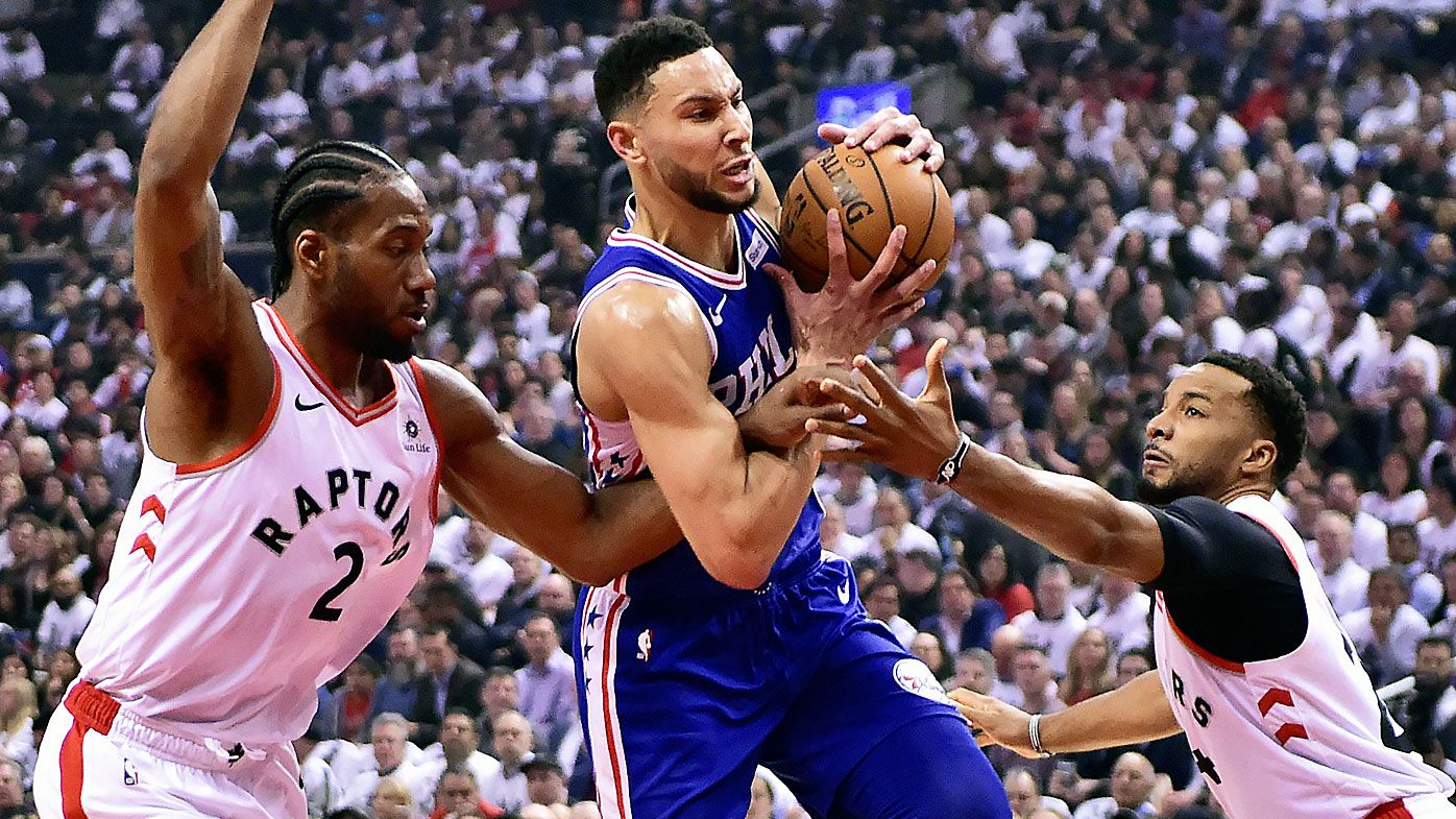 Ben Simmons' Philadelphia 76ers hold off Toronto Raptors to level series
