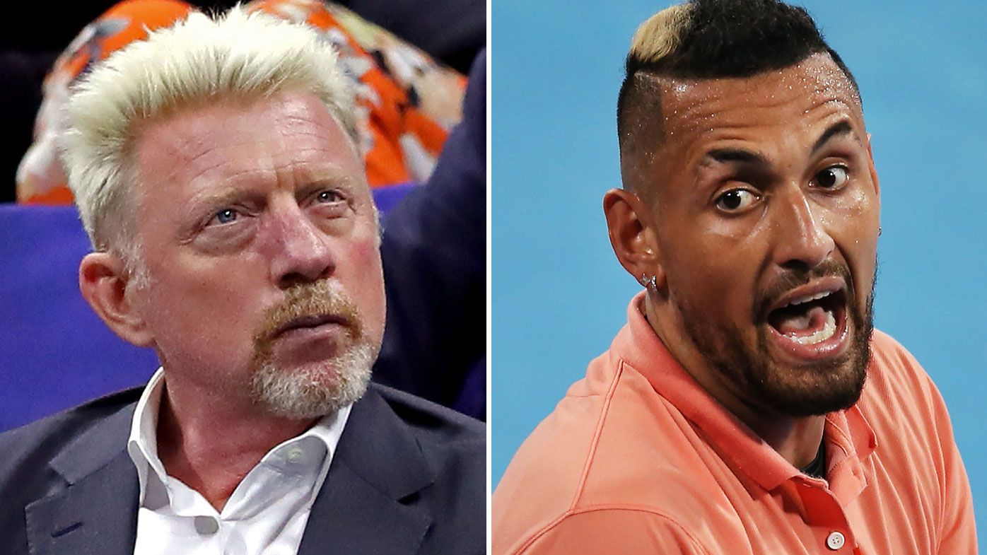 Boris Becker and Nick Kyrgios were in an ugly Twitter argument over Alexander Zverev's partying during the coronavirus pandemic