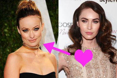 "Olivia Wilde's definitely hot, but we're not sure we'd go this far… ! A few years ago Megan Fox said of the actress: ""Olivia Wilde is so sexy she makes me want to strangle a mountain ox with my bare hands"". Now <i>that's</i> a crush."