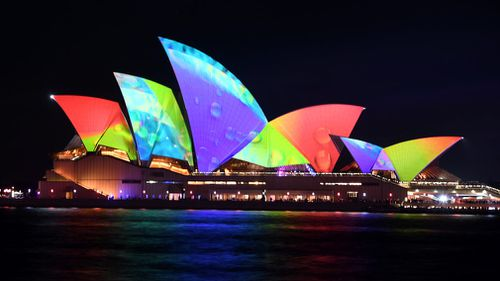 Sydney's Vivid Festival kicked off last night with record numbers of people attracted to the CBD to witness the elaborate light displays.